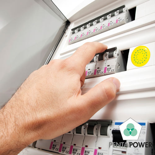 Penta Power 220 Tag on electricity distribution box