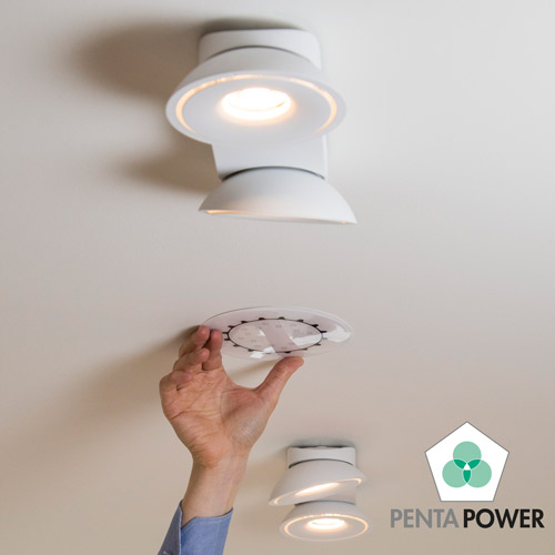 Penta Power Home Tag on ceiling