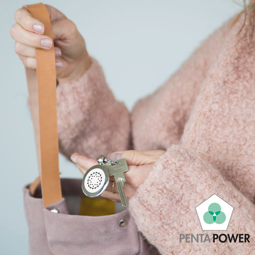 Penta Power Pendant used as keychain keyhanger